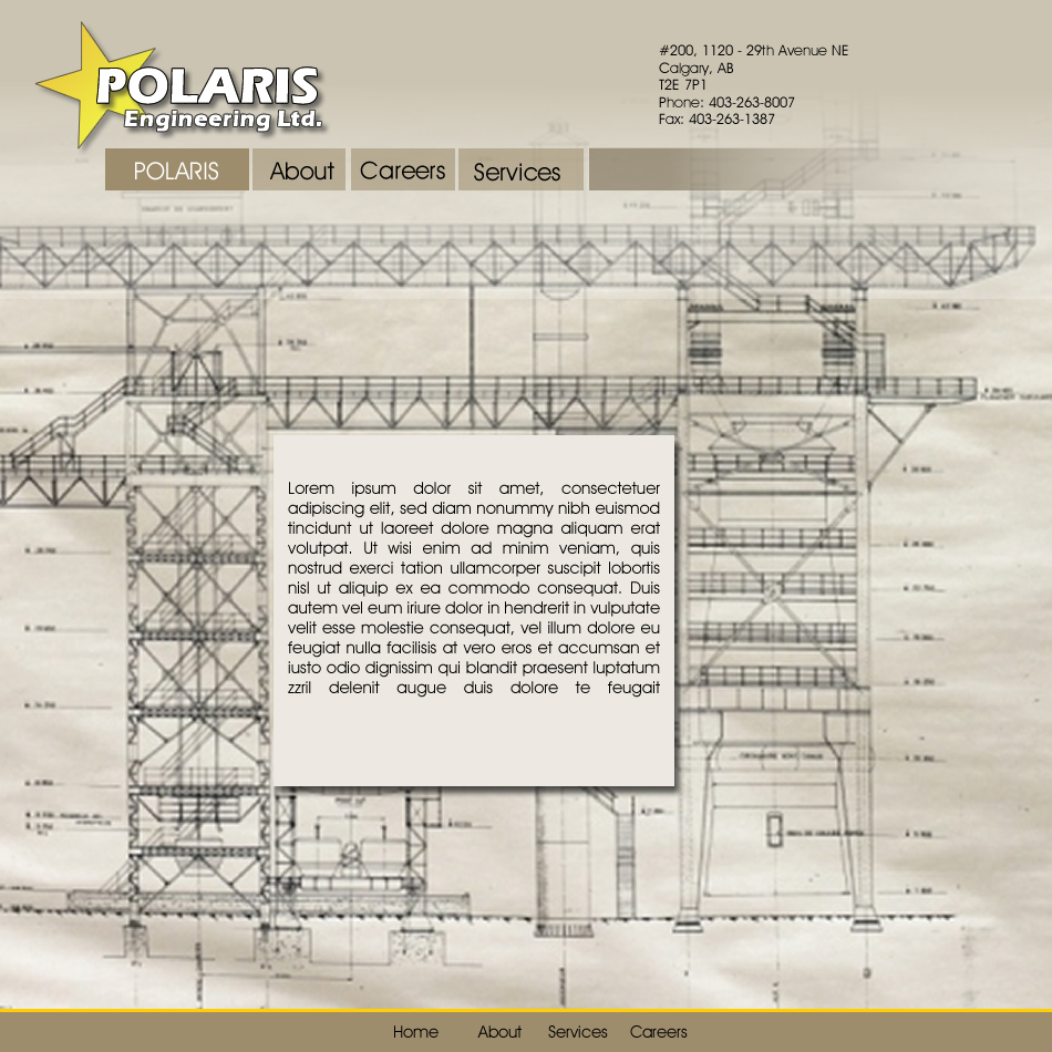 Web Page Design by Rudy - Entry No. 44 in the Web Page Design Contest Polaris Engineering Ltd. requires a new re-branded landing p.