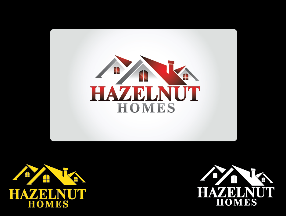 Logo Design by Private User - Entry No. 4 in the Logo Design Contest Unique Logo Design Wanted for Hazelnut Homes.