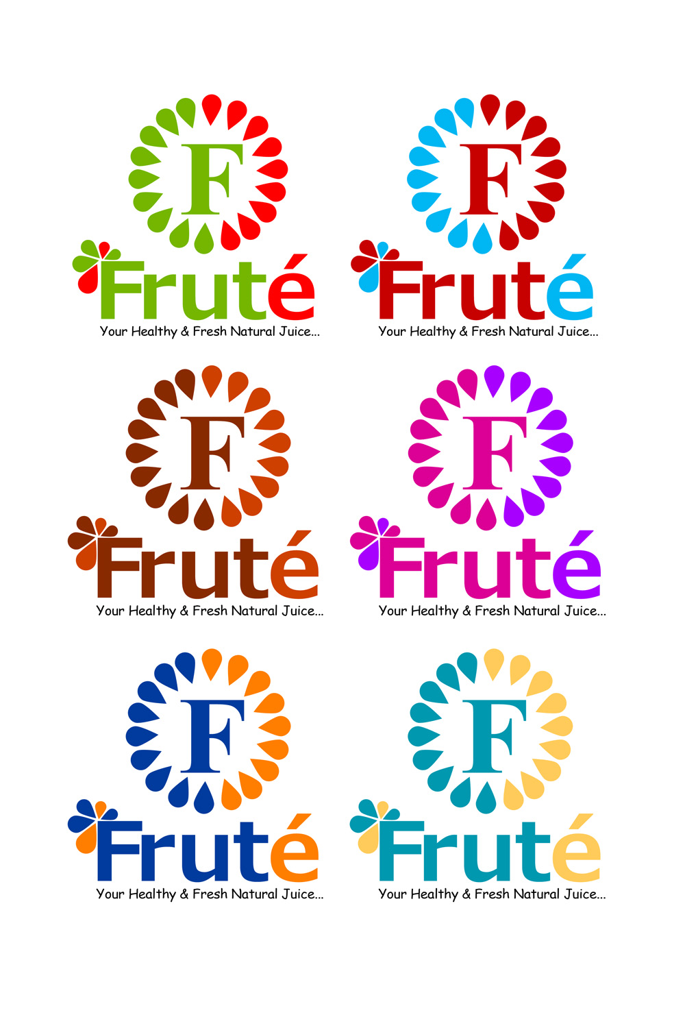 Logo Design by Private User - Entry No. 102 in the Logo Design Contest Imaginative Logo Design for Fruté.