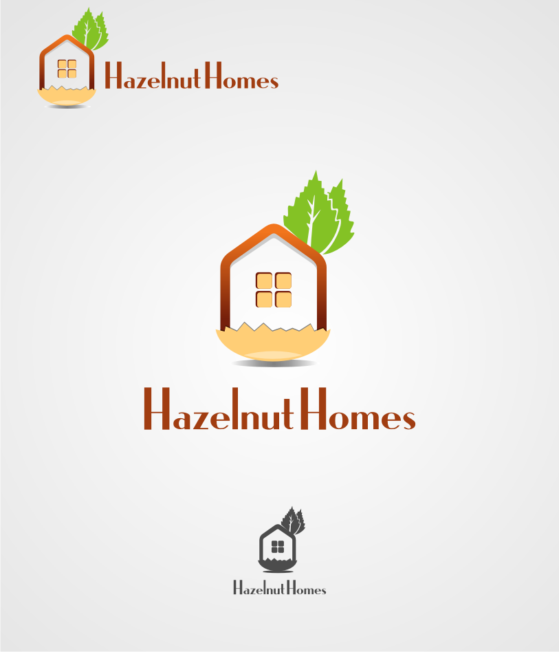 Logo Design by graphicleaf - Entry No. 8 in the Logo Design Contest Unique Logo Design Wanted for Hazelnut Homes.