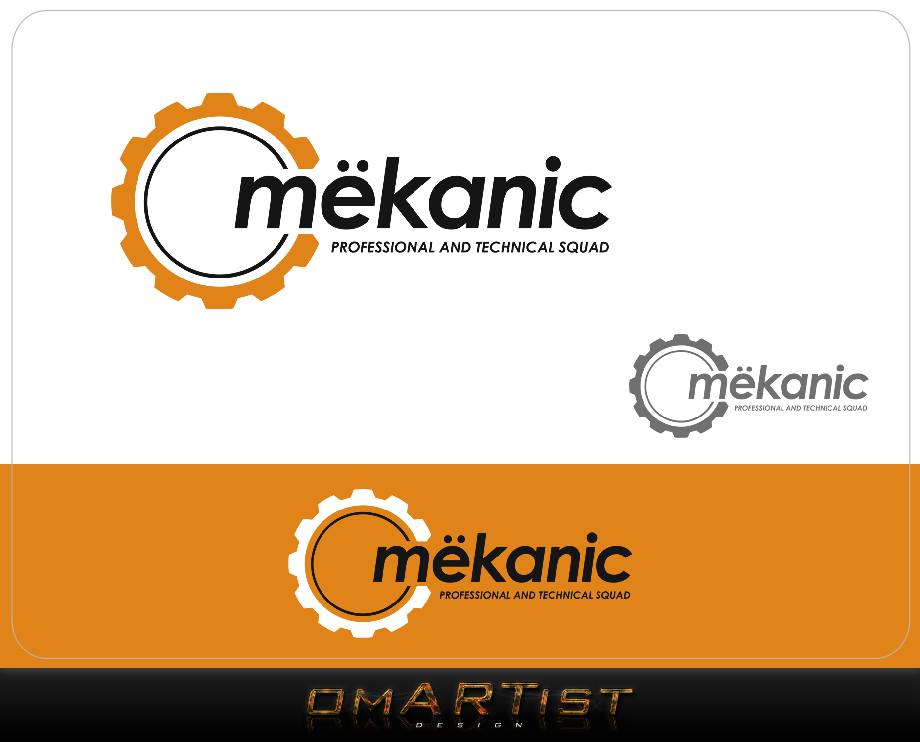 Logo Design by omARTist - Entry No. 45 in the Logo Design Contest Creative Logo Design for MËKANIC - Professional and technical squad.
