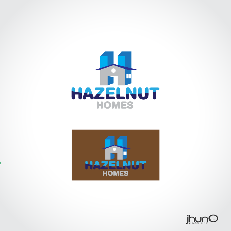 Logo Design by zesthar - Entry No. 11 in the Logo Design Contest Unique Logo Design Wanted for Hazelnut Homes.