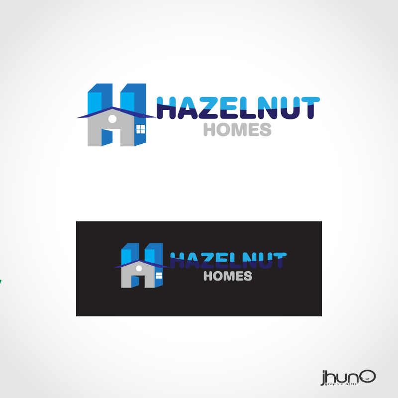Logo Design by zesthar - Entry No. 12 in the Logo Design Contest Unique Logo Design Wanted for Hazelnut Homes.