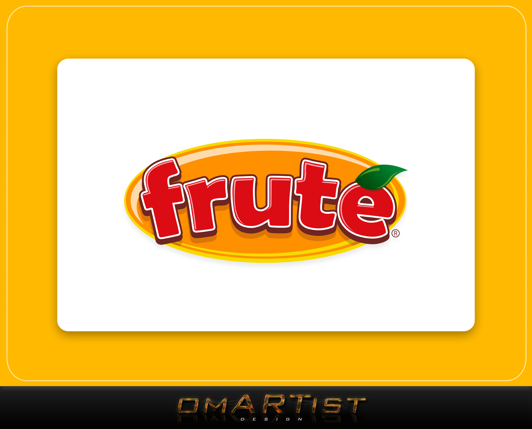 Logo Design by omARTist - Entry No. 115 in the Logo Design Contest Imaginative Logo Design for Fruté.