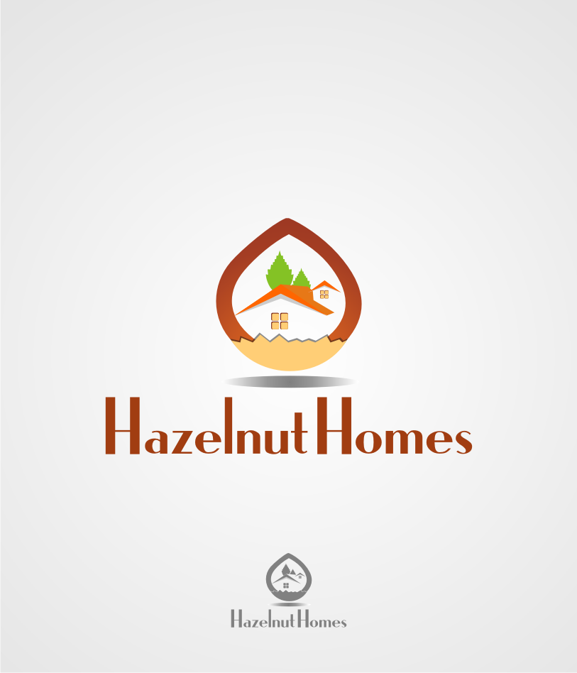Logo Design by Muhammad Nasrul chasib - Entry No. 16 in the Logo Design Contest Unique Logo Design Wanted for Hazelnut Homes.