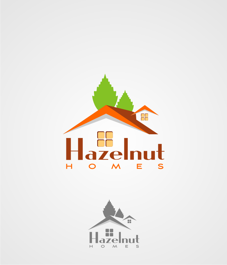 Logo Design by graphicleaf - Entry No. 18 in the Logo Design Contest Unique Logo Design Wanted for Hazelnut Homes.