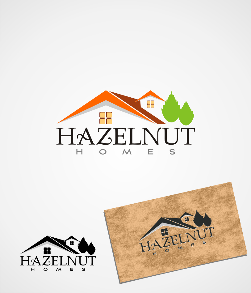 Logo Design by graphicleaf - Entry No. 19 in the Logo Design Contest Unique Logo Design Wanted for Hazelnut Homes.