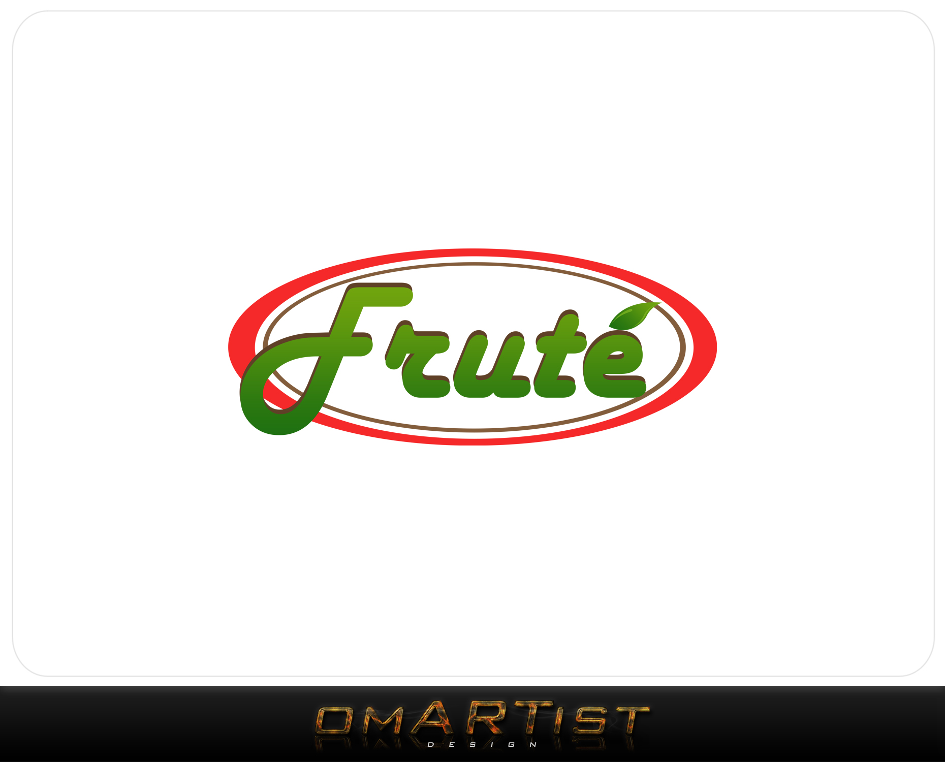Logo Design by omARTist - Entry No. 155 in the Logo Design Contest Imaginative Logo Design for Fruté.