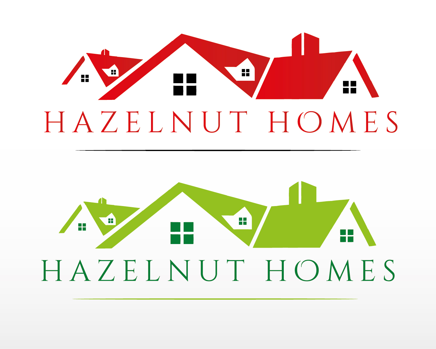 Logo Design by VENTSISLAV KOVACHEV - Entry No. 26 in the Logo Design Contest Unique Logo Design Wanted for Hazelnut Homes.