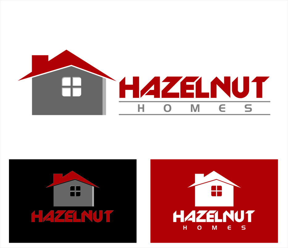 Logo Design by Ngepet_art - Entry No. 28 in the Logo Design Contest Unique Logo Design Wanted for Hazelnut Homes.