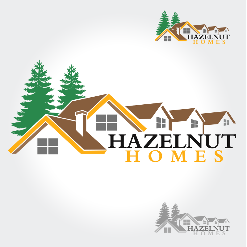 Logo Design by Private User - Entry No. 29 in the Logo Design Contest Unique Logo Design Wanted for Hazelnut Homes.