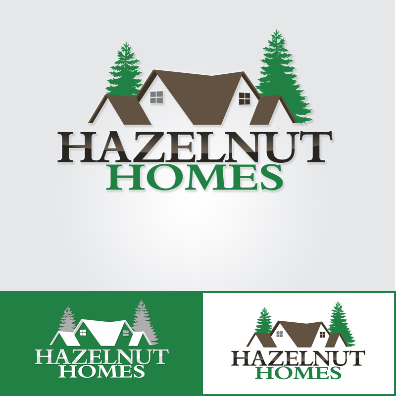 Logo Design by Robert Turla - Entry No. 30 in the Logo Design Contest Unique Logo Design Wanted for Hazelnut Homes.