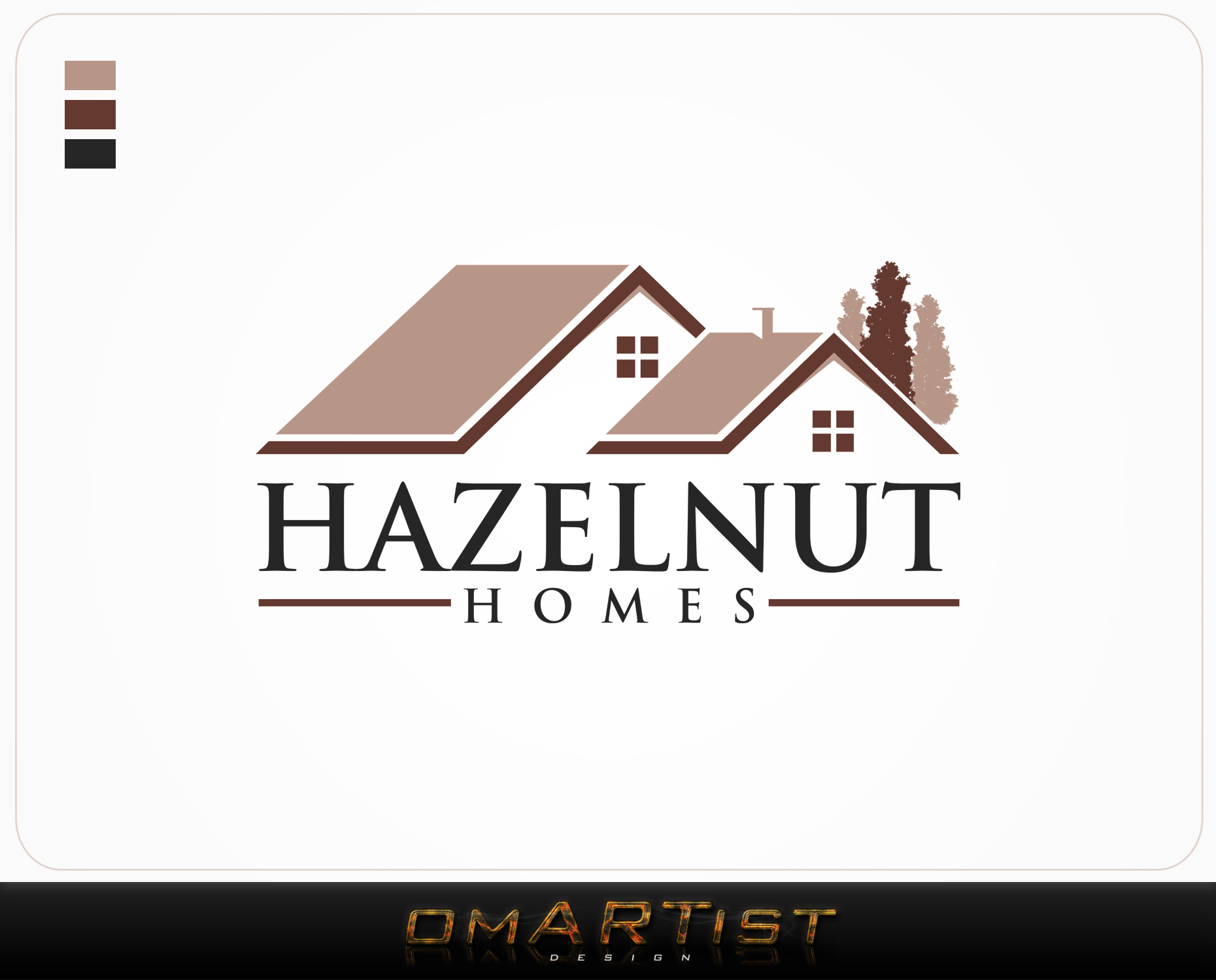 Logo Design by omARTist - Entry No. 31 in the Logo Design Contest Unique Logo Design Wanted for Hazelnut Homes.