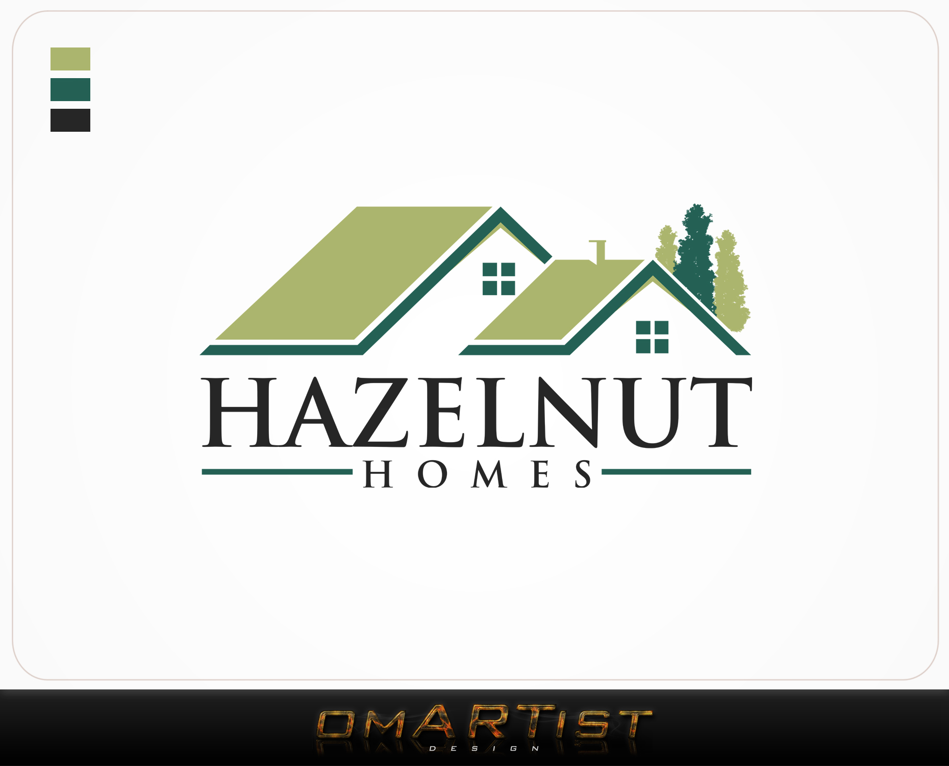Logo Design by omARTist - Entry No. 32 in the Logo Design Contest Unique Logo Design Wanted for Hazelnut Homes.