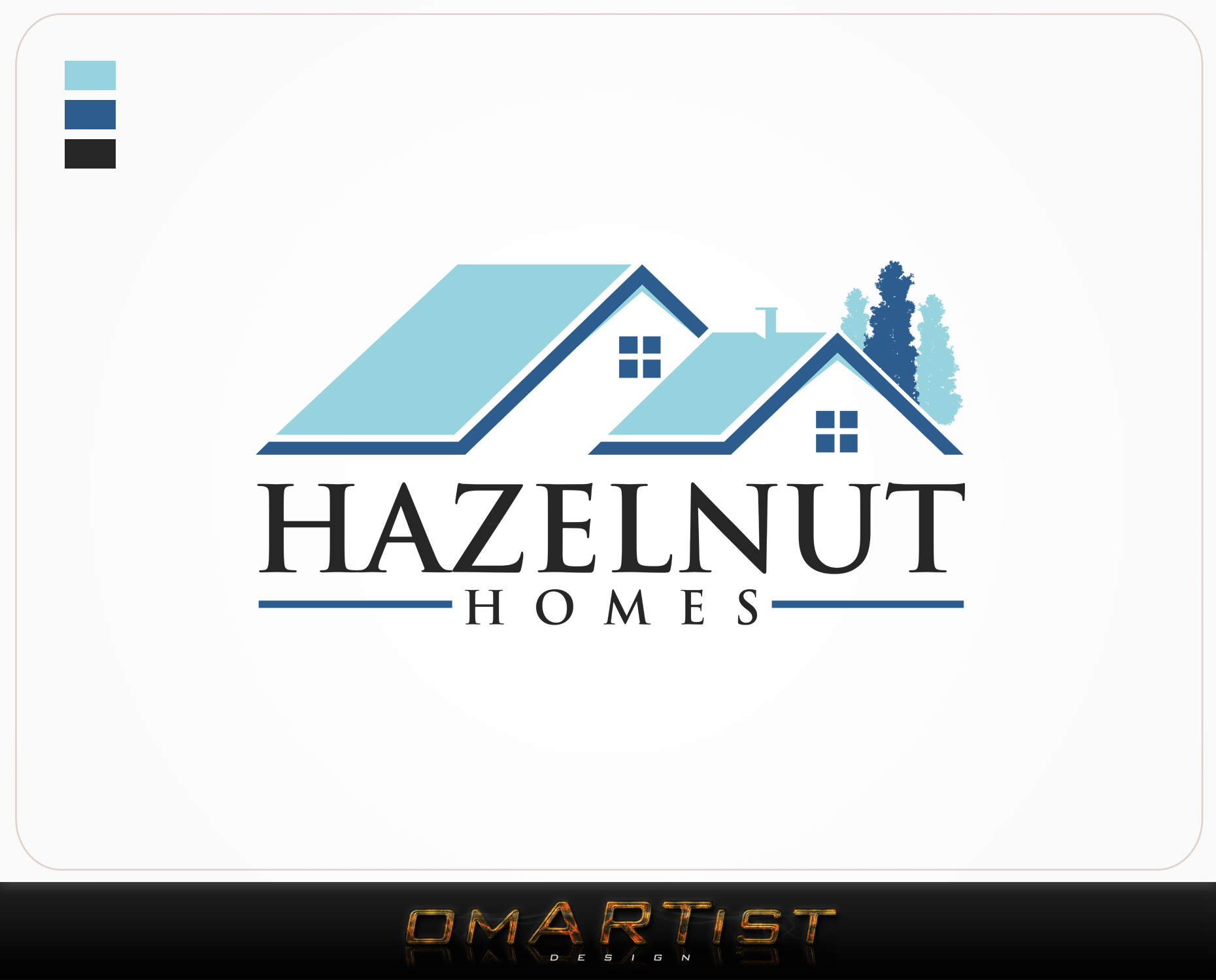 Logo Design by omARTist - Entry No. 33 in the Logo Design Contest Unique Logo Design Wanted for Hazelnut Homes.