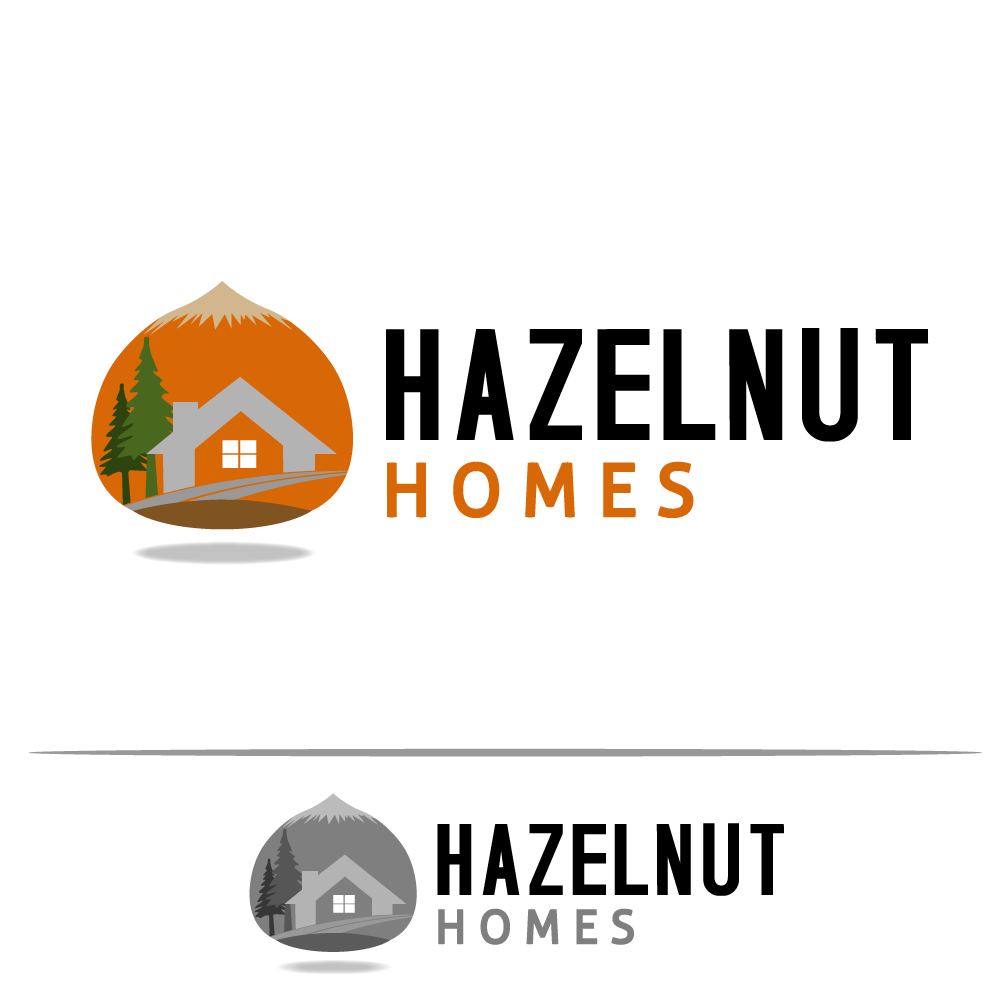 Logo Design by rockin - Entry No. 35 in the Logo Design Contest Unique Logo Design Wanted for Hazelnut Homes.
