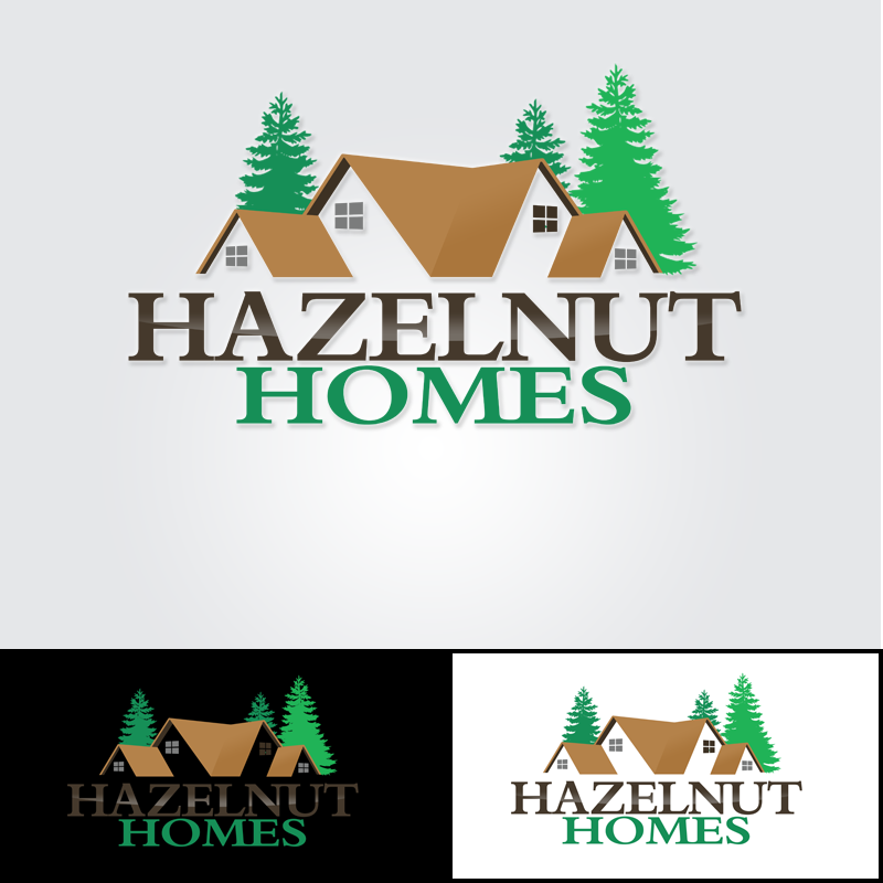 Logo Design by Private User - Entry No. 38 in the Logo Design Contest Unique Logo Design Wanted for Hazelnut Homes.