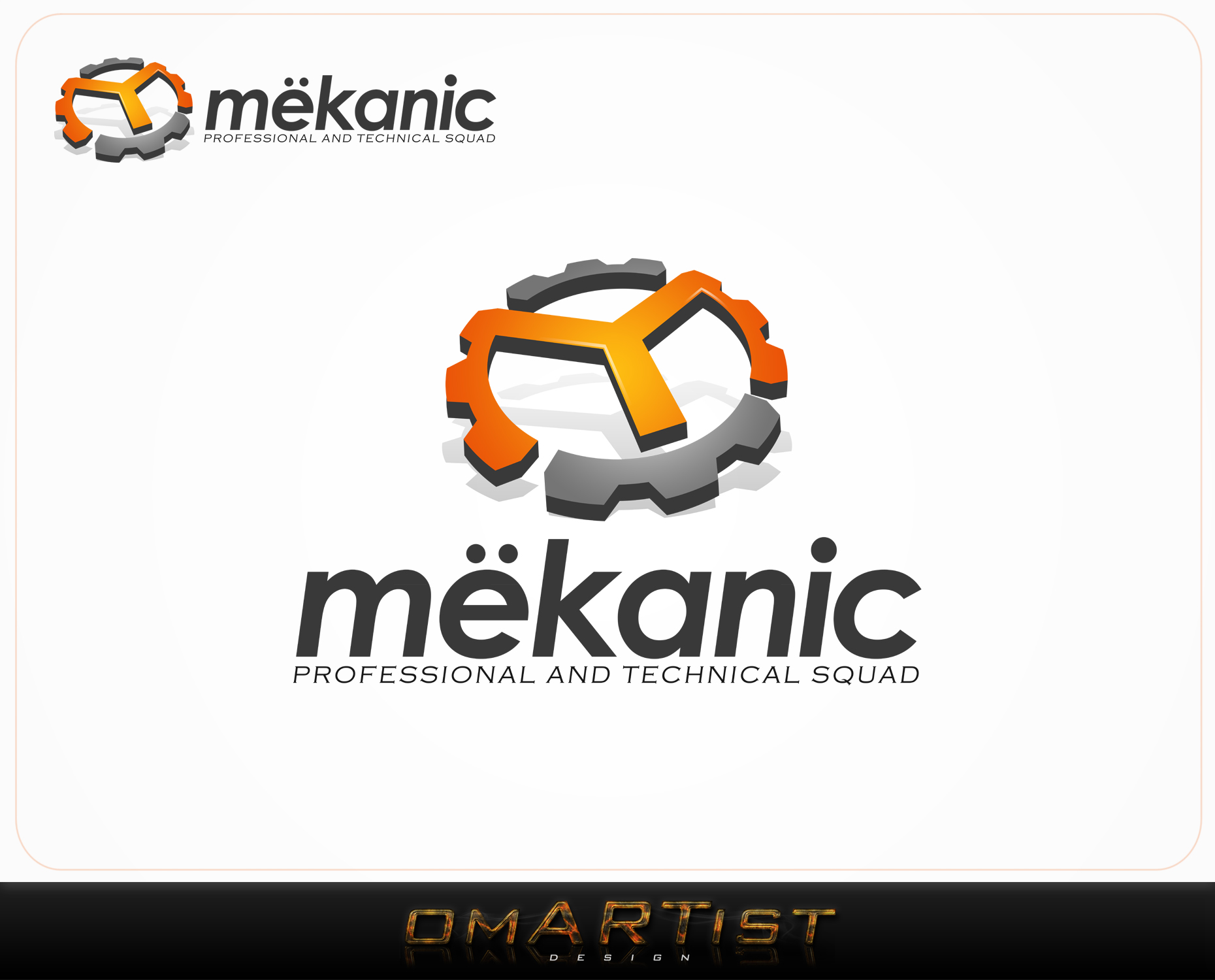 Logo Design by omARTist - Entry No. 86 in the Logo Design Contest Creative Logo Design for MËKANIC - Professional and technical squad.