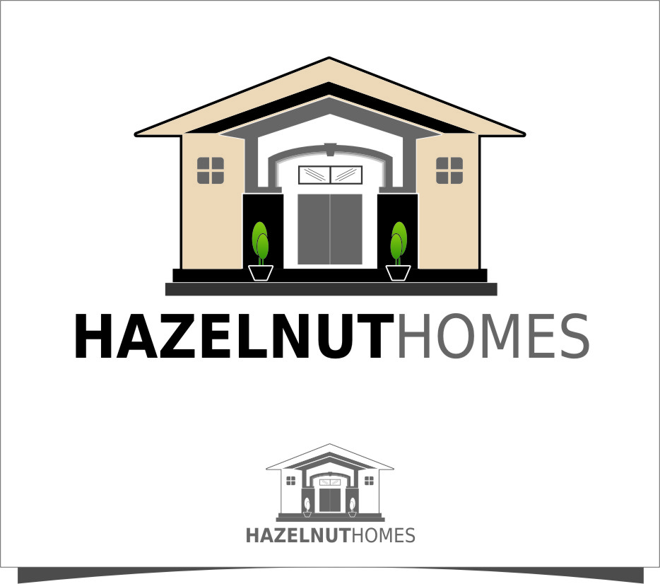 Logo Design by Ngepet_art - Entry No. 44 in the Logo Design Contest Unique Logo Design Wanted for Hazelnut Homes.