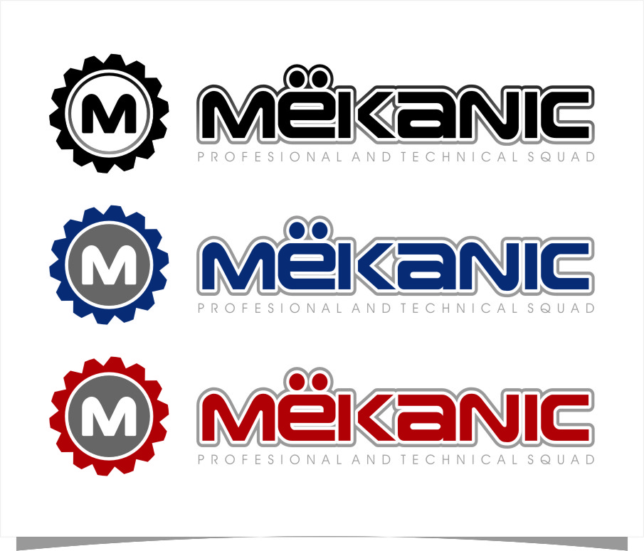 Logo Design by RoSyid Rono-Rene On Java - Entry No. 90 in the Logo Design Contest Creative Logo Design for MËKANIC - Professional and technical squad.