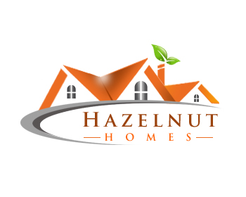Logo Design by Crystal Desizns - Entry No. 49 in the Logo Design Contest Unique Logo Design Wanted for Hazelnut Homes.