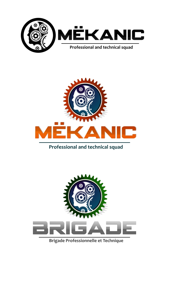 Logo Design by Private User - Entry No. 106 in the Logo Design Contest Creative Logo Design for MËKANIC - Professional and technical squad.