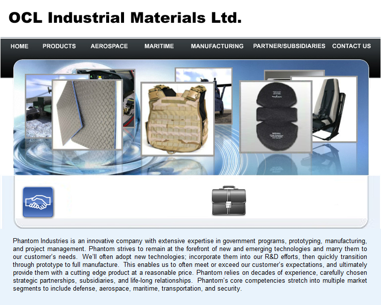Web Page Design by tsyrette - Entry No. 1 in the Web Page Design Contest Imaginative Web Page Design for OCL Industrial Materials Ltd..