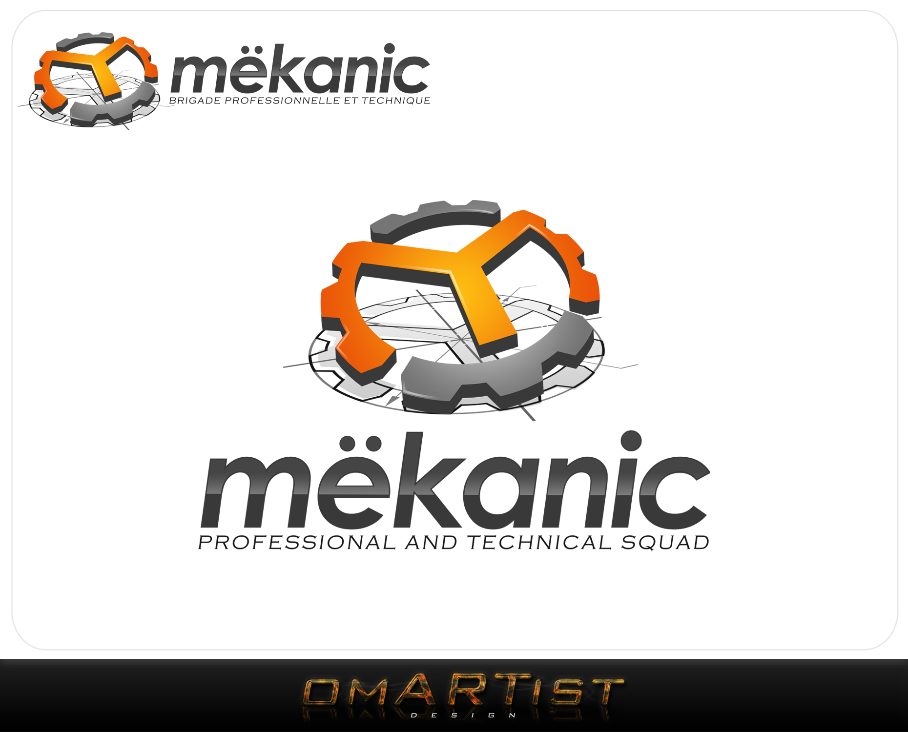 Logo Design by omARTist - Entry No. 108 in the Logo Design Contest Creative Logo Design for MËKANIC - Professional and technical squad.