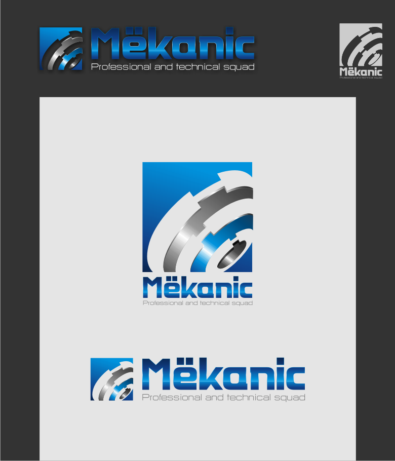 Logo Design by graphicleaf - Entry No. 109 in the Logo Design Contest Creative Logo Design for MËKANIC - Professional and technical squad.