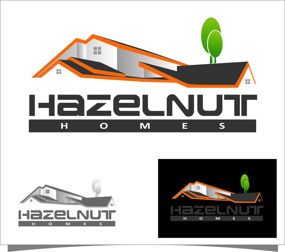 Logo Design by Ngepet_art - Entry No. 50 in the Logo Design Contest Unique Logo Design Wanted for Hazelnut Homes.