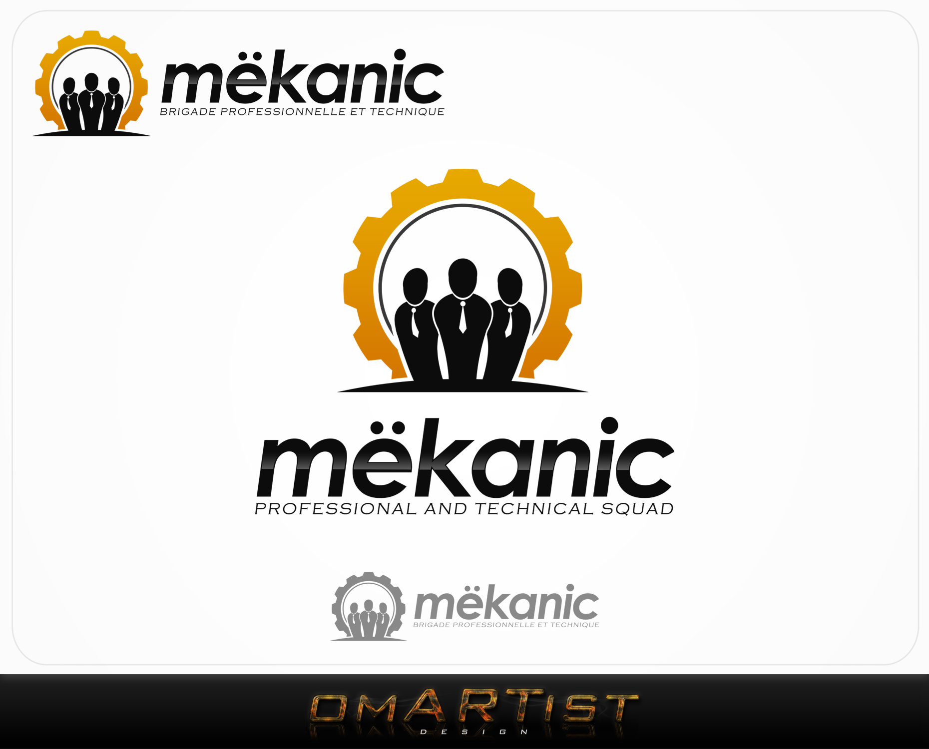 Logo Design by omARTist - Entry No. 116 in the Logo Design Contest Creative Logo Design for MËKANIC - Professional and technical squad.