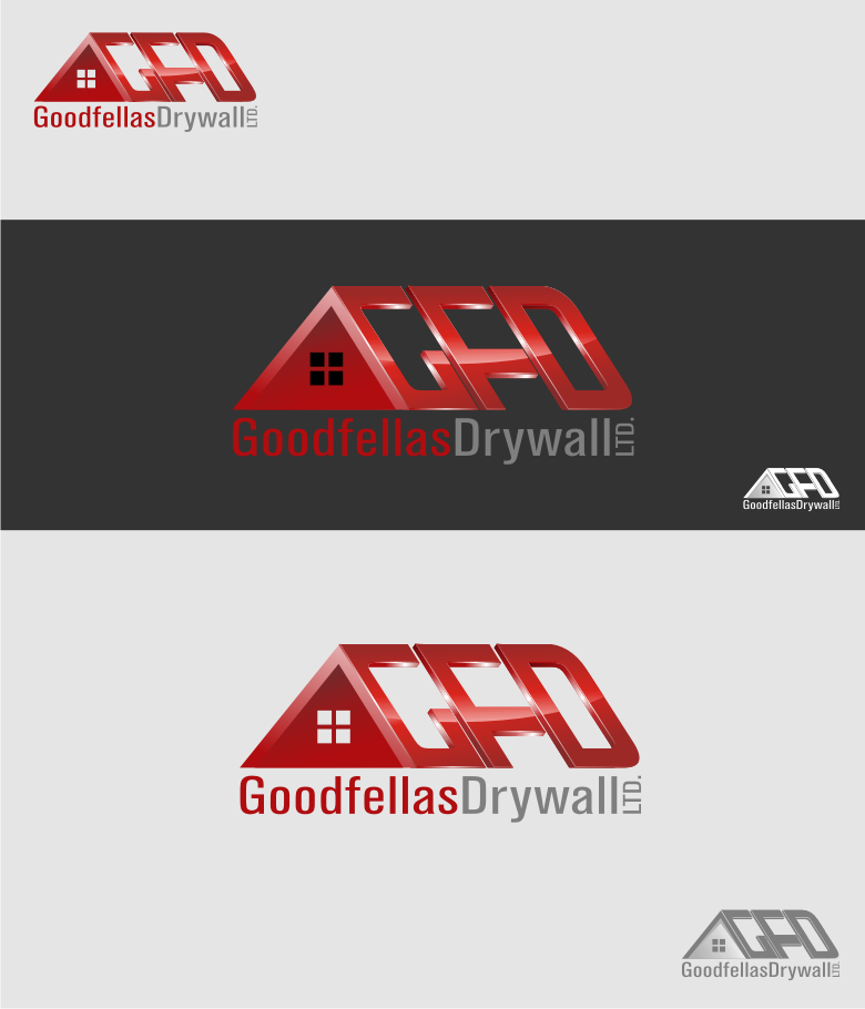 Logo Design by graphicleaf - Entry No. 181 in the Logo Design Contest Creative Logo Design for Goodfellas Drywall.