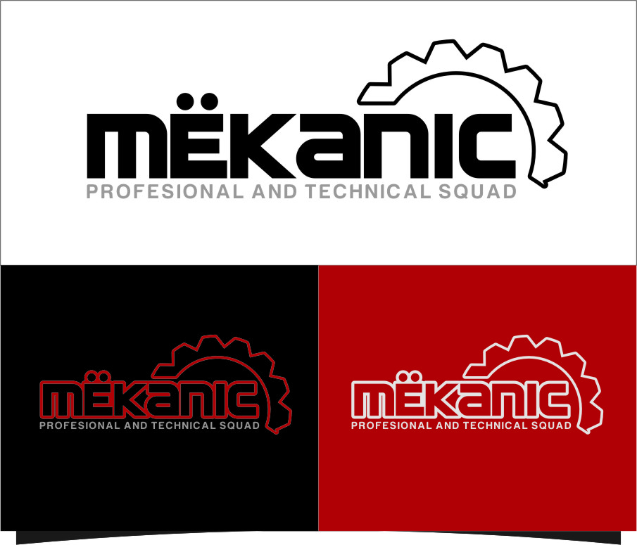 Logo Design by Ngepet_art - Entry No. 154 in the Logo Design Contest Creative Logo Design for MËKANIC - Professional and technical squad.