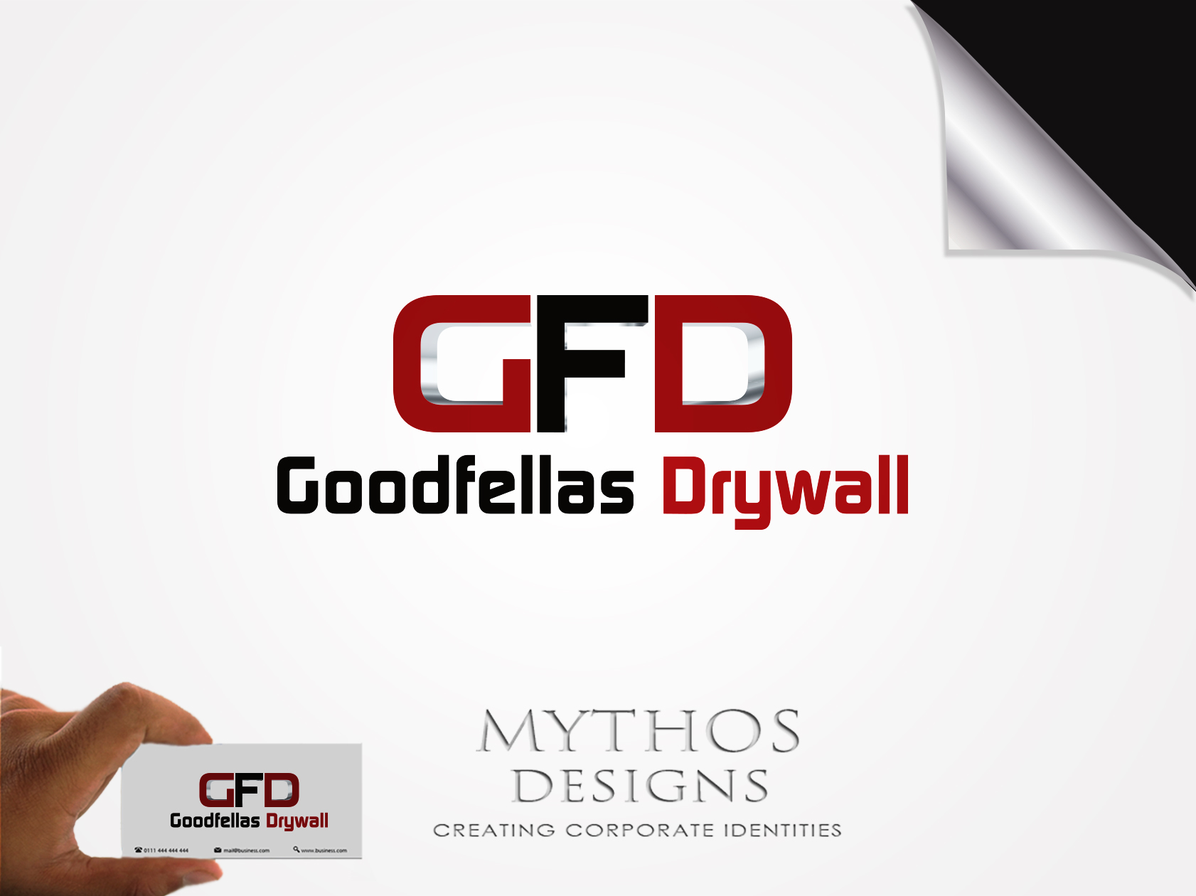 Logo Design by Mythos Designs - Entry No. 184 in the Logo Design Contest Creative Logo Design for Goodfellas Drywall.