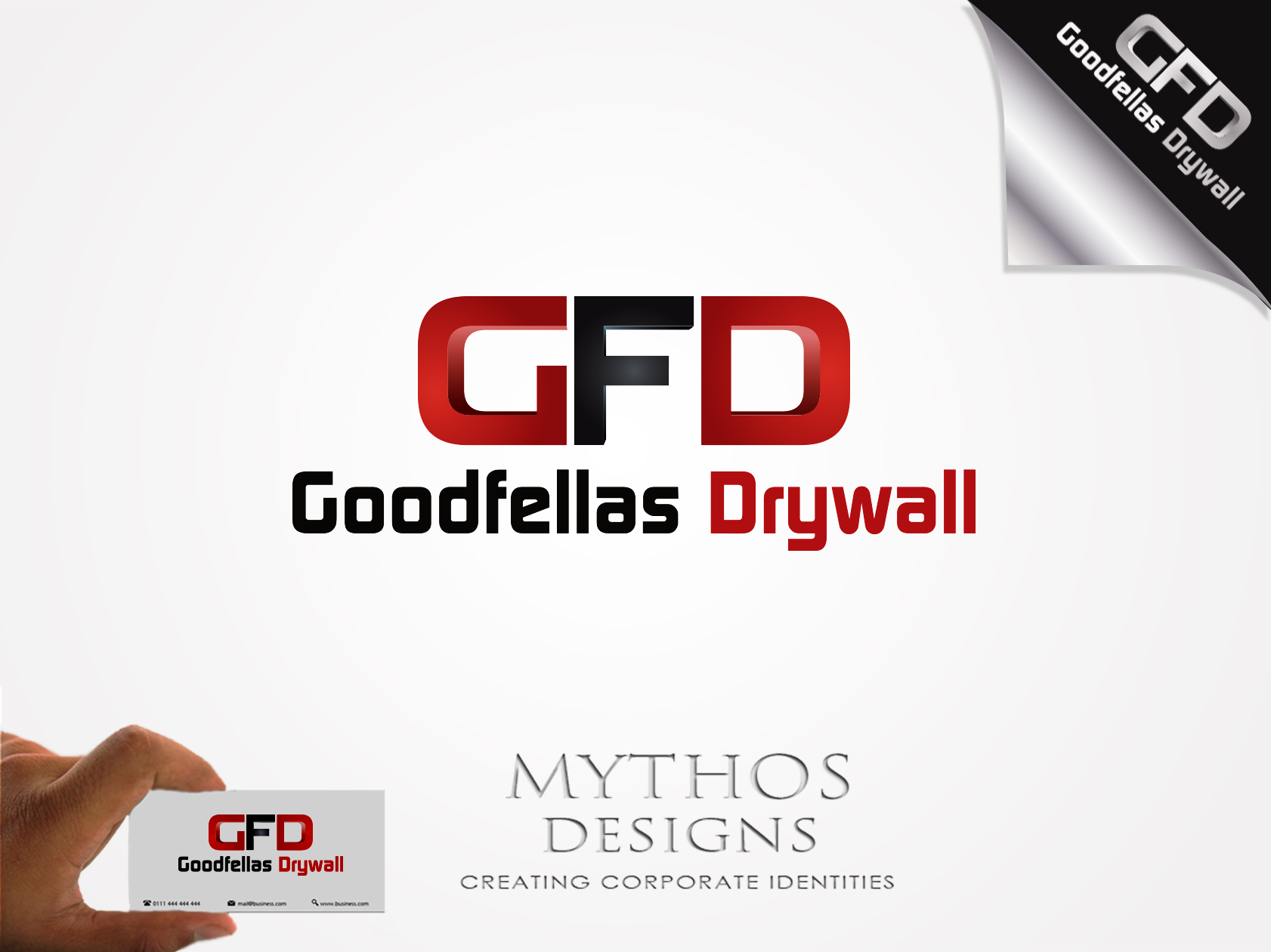 Logo Design by Mythos Designs - Entry No. 185 in the Logo Design Contest Creative Logo Design for Goodfellas Drywall.
