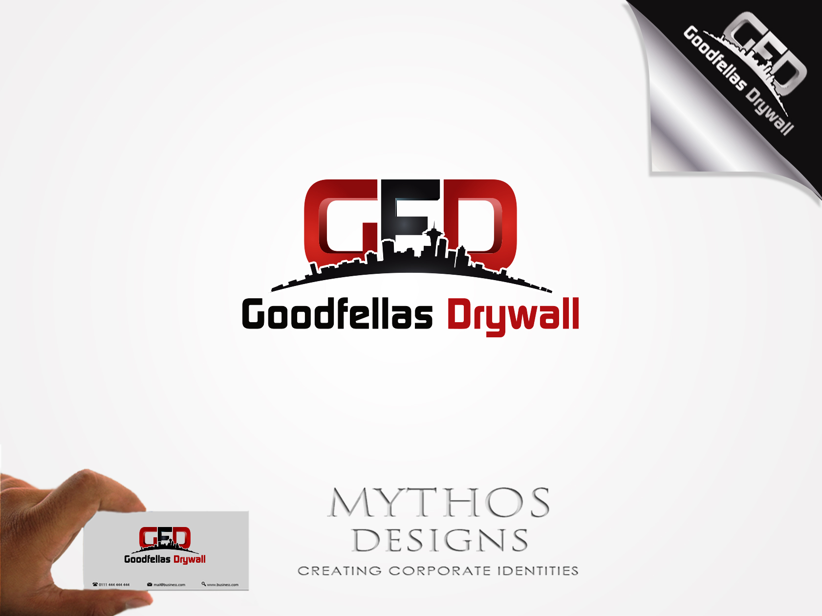 Logo Design by Mythos Designs - Entry No. 186 in the Logo Design Contest Creative Logo Design for Goodfellas Drywall.