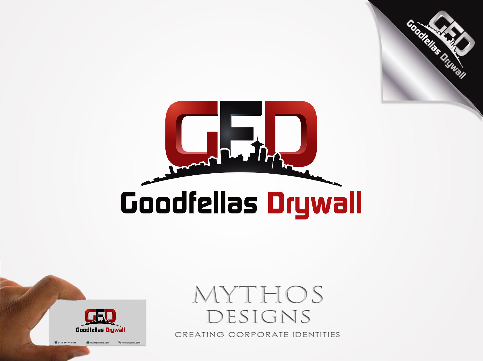 Logo Design by Mythos Designs - Entry No. 187 in the Logo Design Contest Creative Logo Design for Goodfellas Drywall.