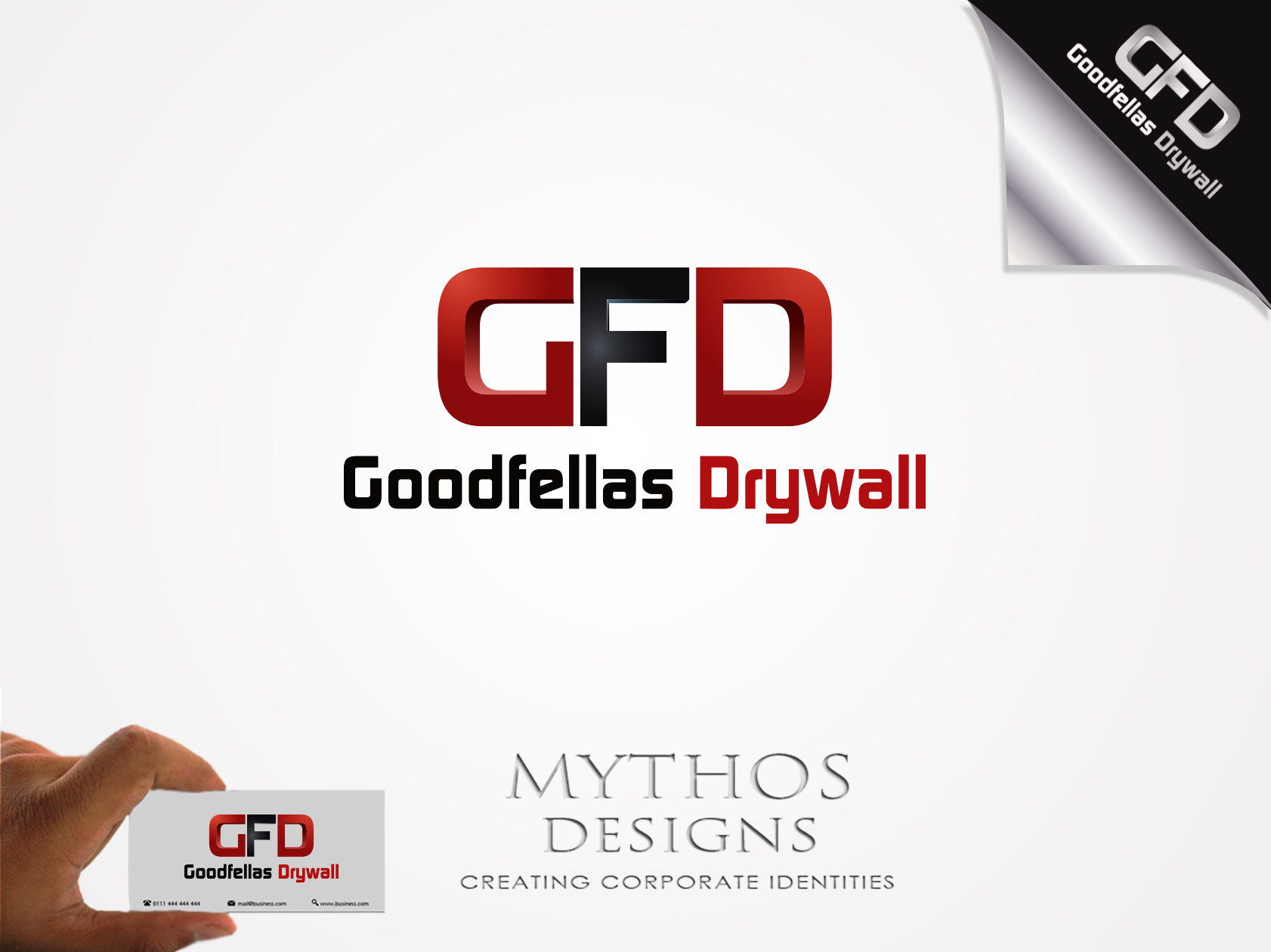 Logo Design by Mythos Designs - Entry No. 188 in the Logo Design Contest Creative Logo Design for Goodfellas Drywall.