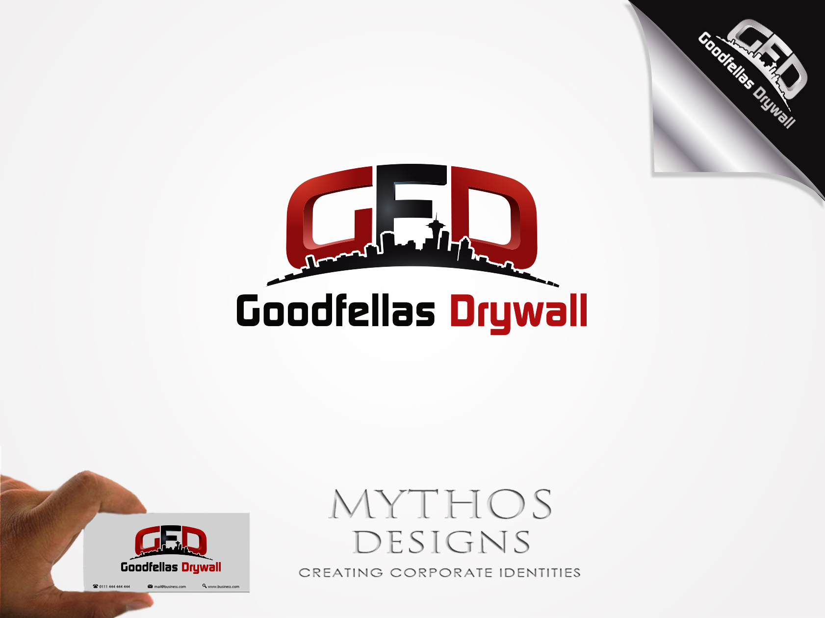Logo Design by Mythos Designs - Entry No. 189 in the Logo Design Contest Creative Logo Design for Goodfellas Drywall.