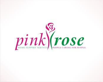 Logo Design by caj - Entry No. 105 in the Logo Design Contest Pink Rose Home Support Services.