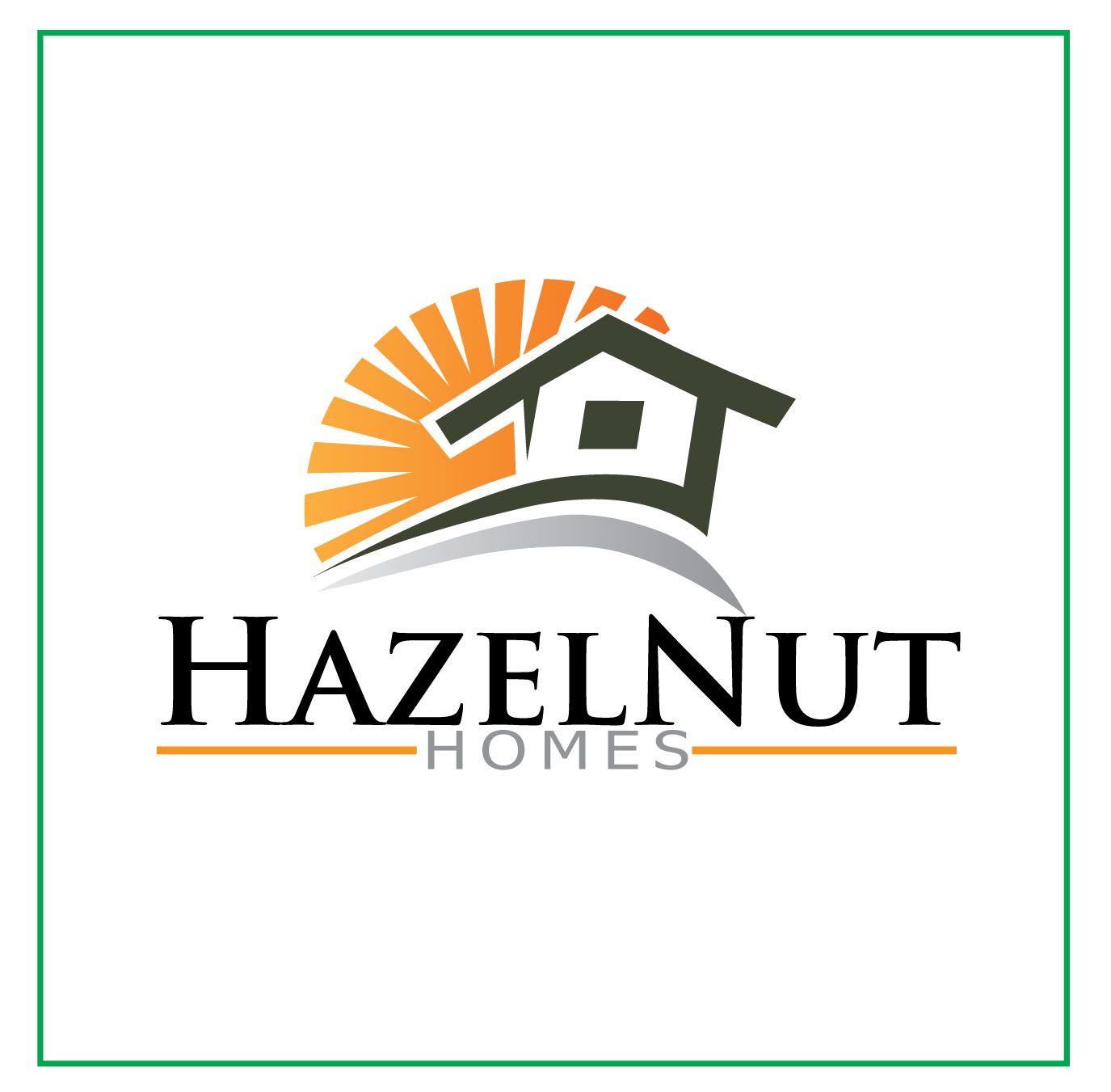 Logo Design by Jerry Gammad - Entry No. 65 in the Logo Design Contest Unique Logo Design Wanted for Hazelnut Homes.