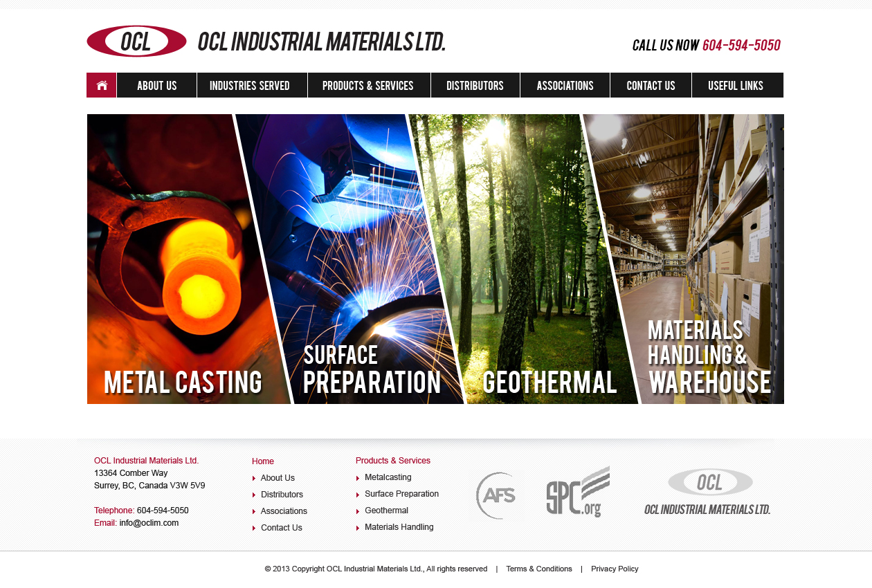 Web Page Design by Emad A Zyed - Entry No. 12 in the Web Page Design Contest Imaginative Web Page Design for OCL Industrial Materials Ltd..