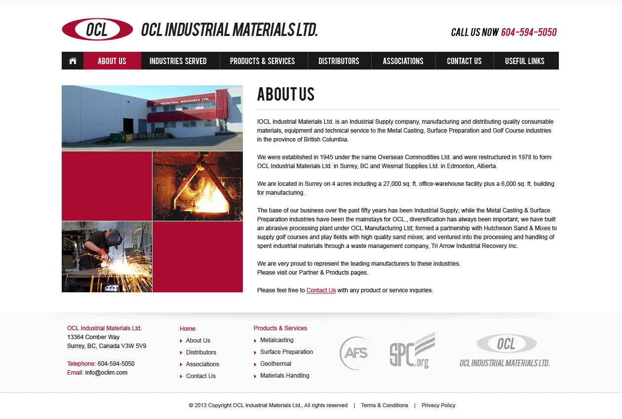 Web Page Design by Emad A Zyed - Entry No. 14 in the Web Page Design Contest Imaginative Web Page Design for OCL Industrial Materials Ltd..