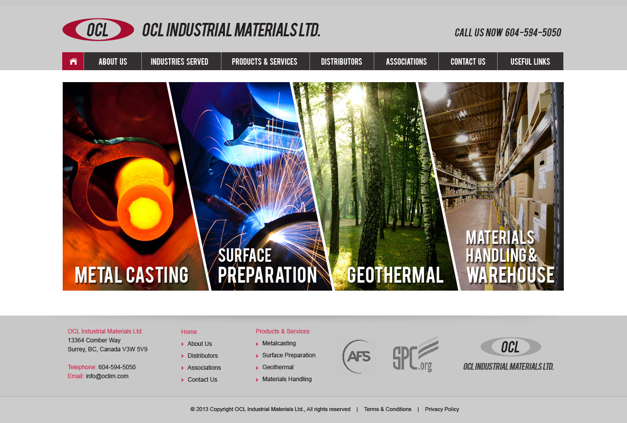 Web Page Design by Emad A Zyed - Entry No. 16 in the Web Page Design Contest Imaginative Web Page Design for OCL Industrial Materials Ltd..