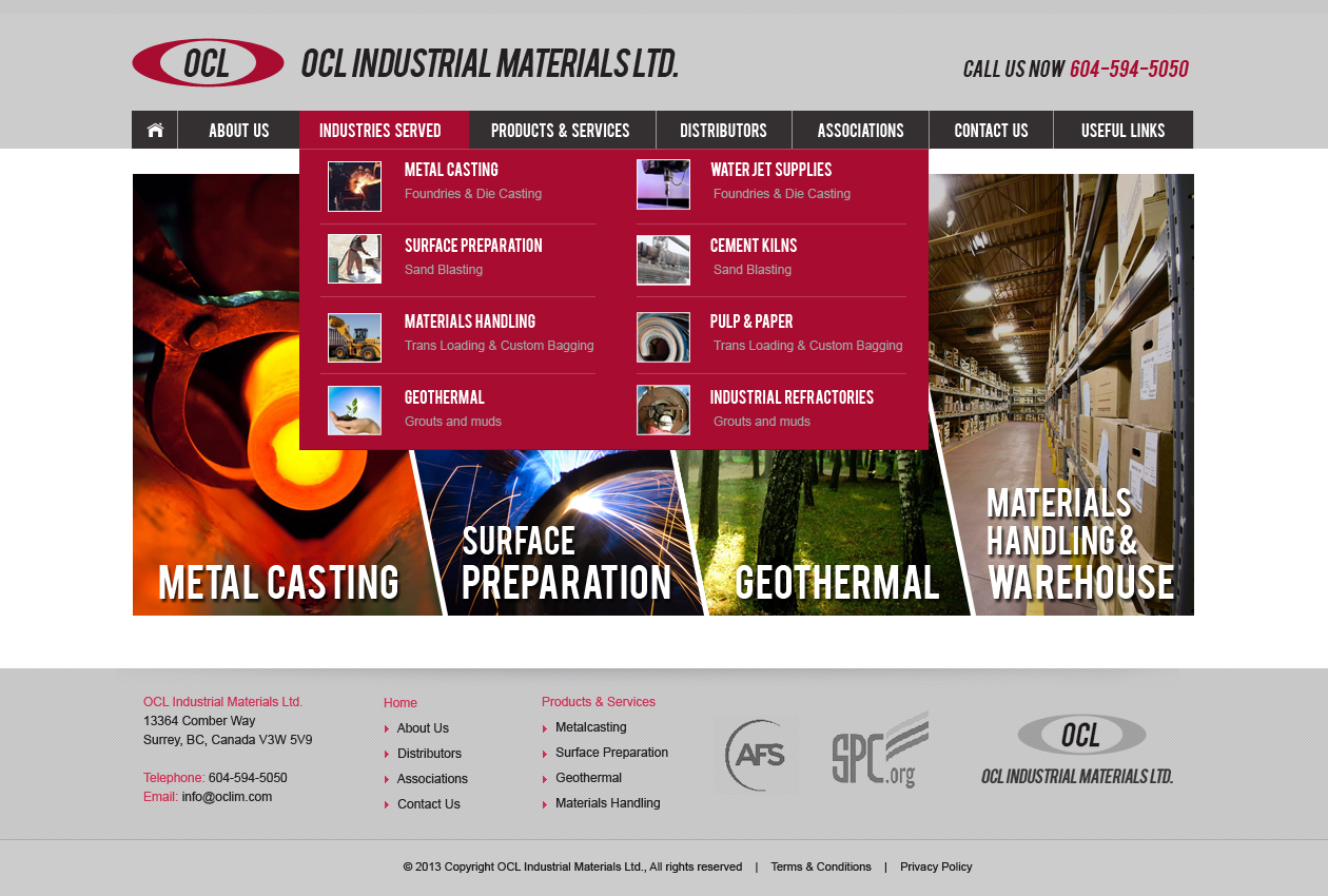 Web Page Design by Emad A Zyed - Entry No. 18 in the Web Page Design Contest Imaginative Web Page Design for OCL Industrial Materials Ltd..