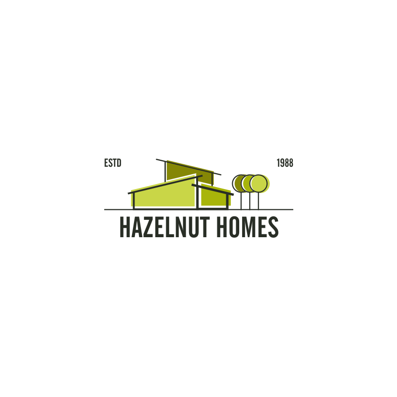 Logo Design by hkdesign - Entry No. 66 in the Logo Design Contest Unique Logo Design Wanted for Hazelnut Homes.