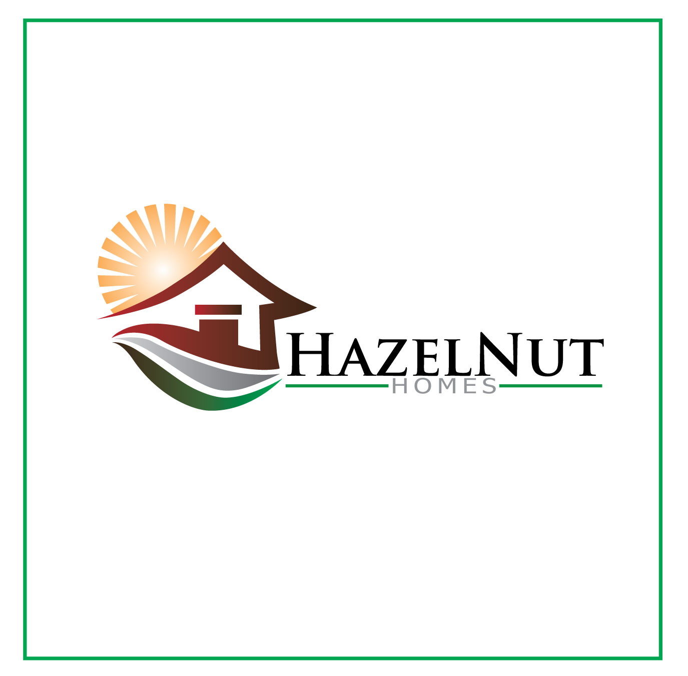 Logo Design by Jerry Gammad - Entry No. 68 in the Logo Design Contest Unique Logo Design Wanted for Hazelnut Homes.