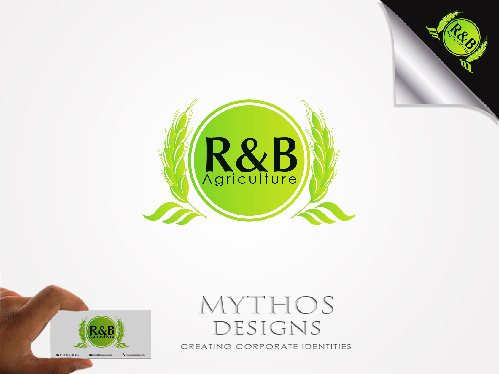 Logo Design by Mythos Designs - Entry No. 19 in the Logo Design Contest Captivating Logo Design for R & B Agriculture.