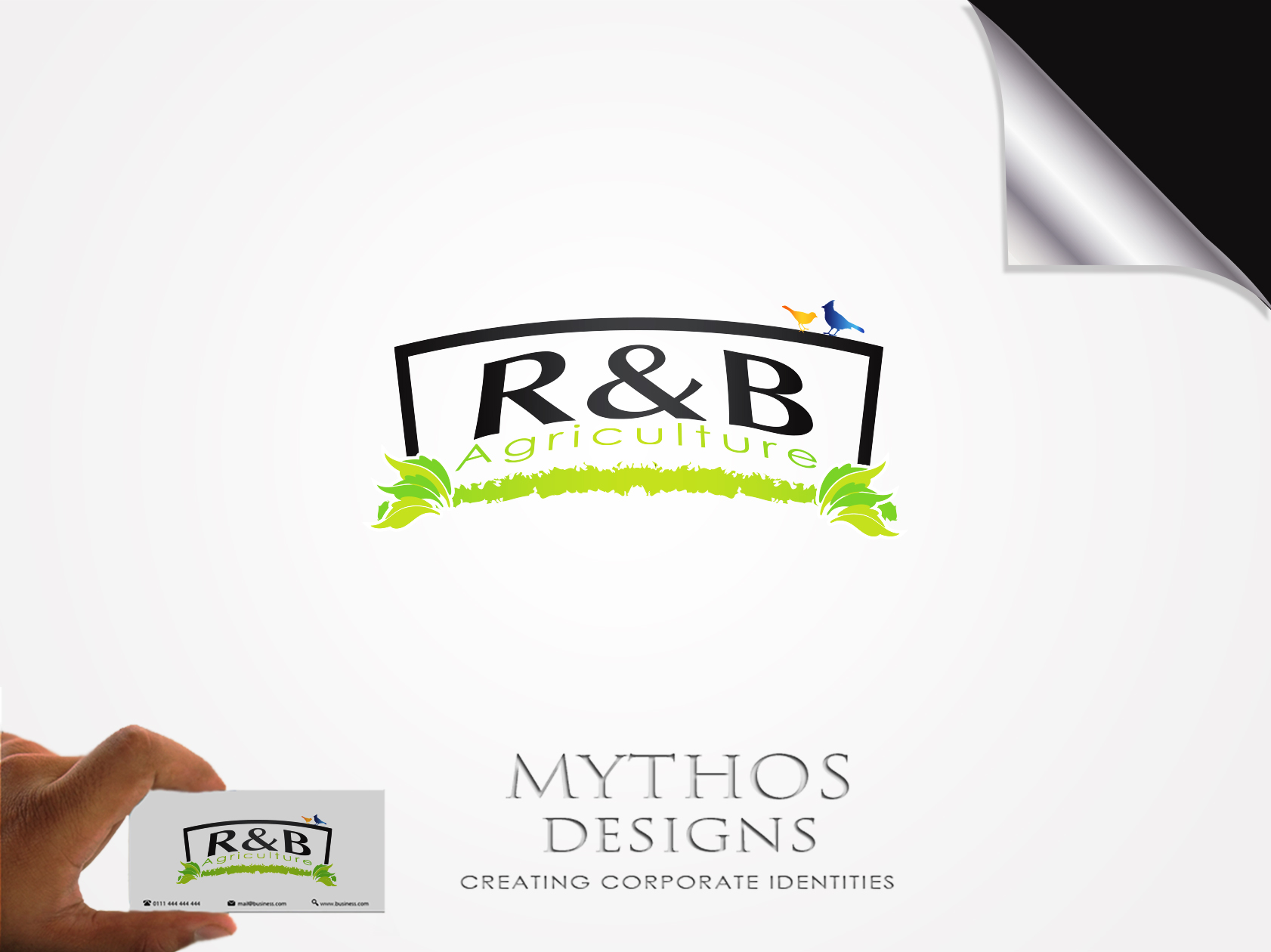 Logo Design by Mythos Designs - Entry No. 20 in the Logo Design Contest Captivating Logo Design for R & B Agriculture.