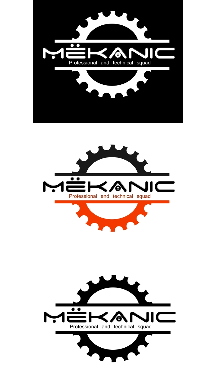 Logo Design by Private User - Entry No. 167 in the Logo Design Contest Creative Logo Design for MËKANIC - Professional and technical squad.